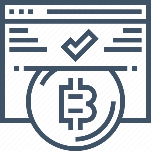 accept, bitcoin, browser, digital, online, payment, website icon