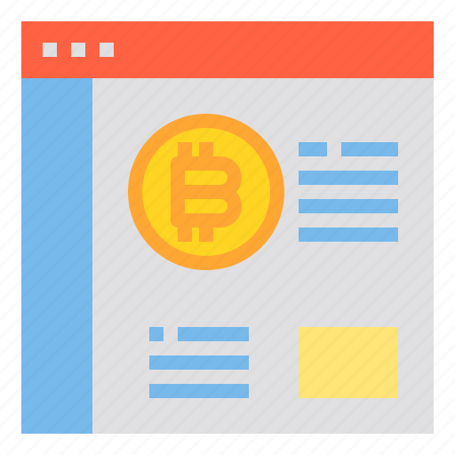 bitcoin, browser, business, currency, money icon