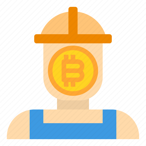 bitcoin, business, currency, diger, man, money icon