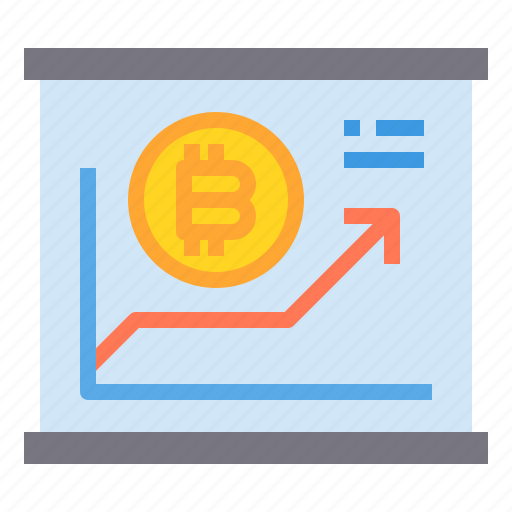 bitcoin, business, currency, growth, money, up icon