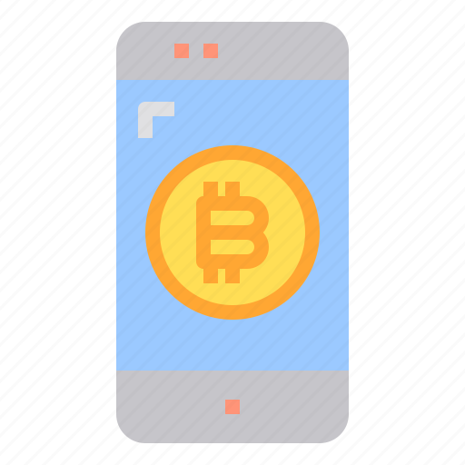 bitcoin, business, currency, mobile, money icon