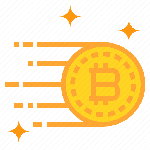 bitcoin, business, currency, money, run icon