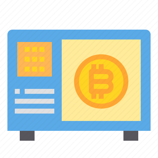 bitcoin, business, currency, money, safe icon