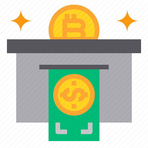 bitcoin, business, currency, money, withdraw icon