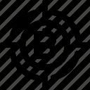 bitcoin, bitcoin icon, goal, goal icon, target, target icon icon