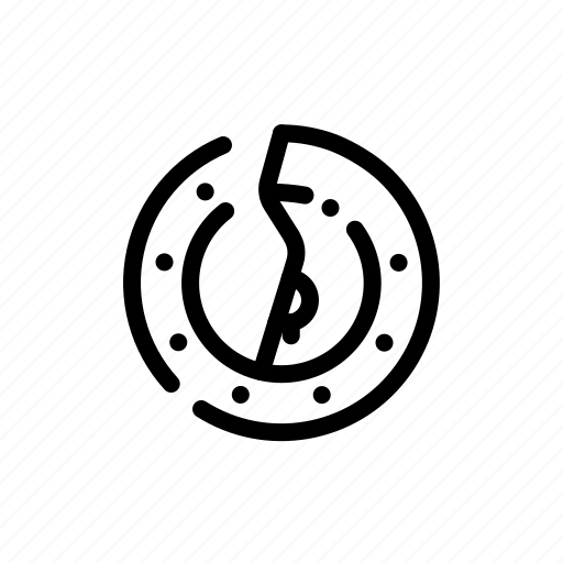 bitcoin, broken, currency, finance icon