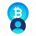 account, bitcoin, currency, finance, user icon