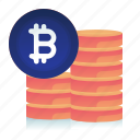 balance, bitcoin, coin, currency, money icon