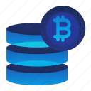 bitcoin, currency, data, finance, money icon