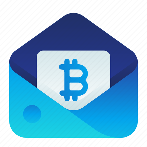 Bitcoin, currency, email, finance, money icon - Download on Iconfinder