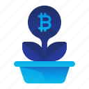bitcoin, currency, finance, growth, money icon