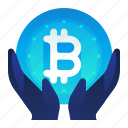 bitcoin, currency, finance, investment, money icon
