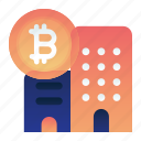 bitcoin, building, currency, finance, office