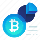 bitcoin, chart, percentage, pie, presentation icon