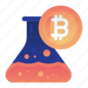 bitcoin, currency, finance, money, research icon