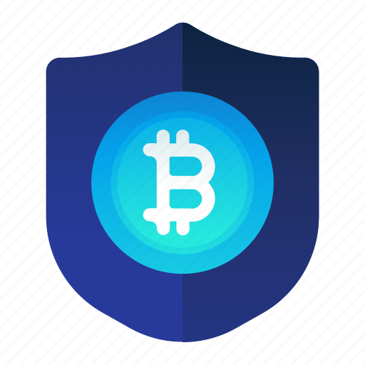bitcoin, currency, finance, money, safety icon