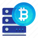 bitcoin, currency, finance, rack, server icon