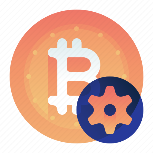 Bitcoin, currency, finance, money, settings icon - Download on Iconfinder