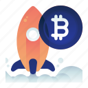 bitcoin, currency, finance, money, startup icon