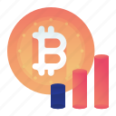 bitcoin, currency, finance, money, statistic icon