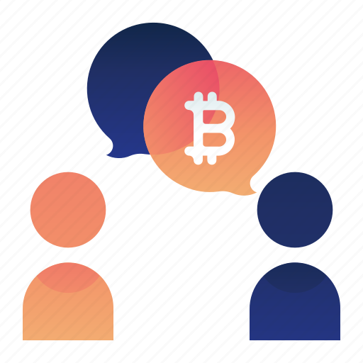 Bitcoin, currency, finance, money, talk icon - Download on Iconfinder