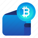 bitcoin, currency, finance, money, wallet icon