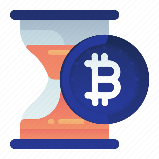 Bitcoin, estimation, finance, hourglass, time icon - Download on Iconfinder