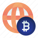 bitcoin, currency, finance, global, money icon