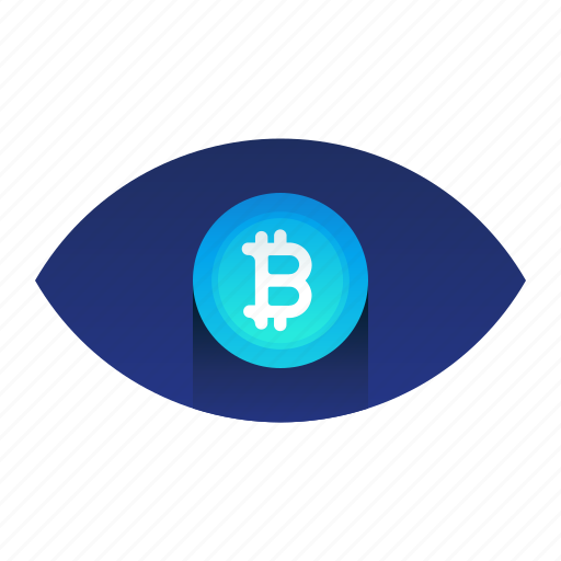 Bitcoin, currency, eye, monitor, watch icon - Download on Iconfinder