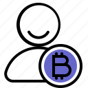 account, bitcoin, crypto, cryptocurrency, customer, user icon