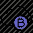 bitcoin, cloud, backup, crypto, data