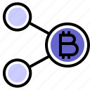 bitcoin, crypto, cryptocurrency, network, share icon