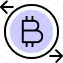 bitcoin, crypto, cryptocurrency, exchange, market, transfer icon
