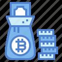 bag, bank, coin, money, rich icon