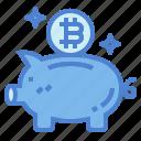 bank, coin, money, piggy, savings