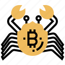 bitcoin, business, crab, market, miners icon