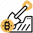 bitcoin, business, miners, mining, public icon