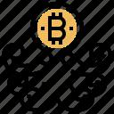 bitcoin, business, conceptual, holder, octopus