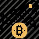 bitcoin, conceptual, level, shark, trade