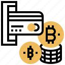 banking, bitcoin, business, fee, transaction icon