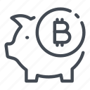bank, bitcoin, cryptocurrency, invest, investment, piggy