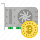 card, bitcoin, farm, graphic, minning icon