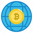 bitcoin, cryptocurrency, global, wide, world
