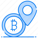 bank pointer, bitcoin location, bitcoin pin, bitcoin placeholder, cryptocurrency location, map marker icon