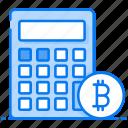 bitcoin accounting, bitcoin calculator, finance, money calculation, money savings