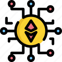 bitcoin, coin, cryptocurrency, digital, ethereum, money icon