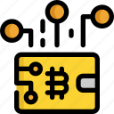 bank, bitcoin, cryptocurrency, digital, finance, money, wallet icon