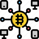 bitcoin, cryptocurrency, device, digital, mobile, money icon