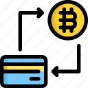 bitcoin, card, credit, cryptocurrency, digital, money, payment icon