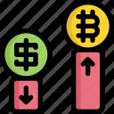bitcoin, cryptocurrency, digital, exchange, money, trading